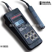 哈纳仪器专卖/便携式防水电导率测定仪 =型号:HANNA HI 9033